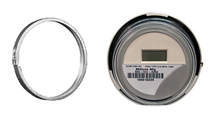 A snap action meter sealing ring and a meter that has been fitted with the ring.